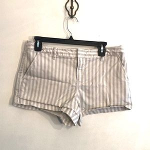 [Joie] Gray/White Striped Shorts - Size 4